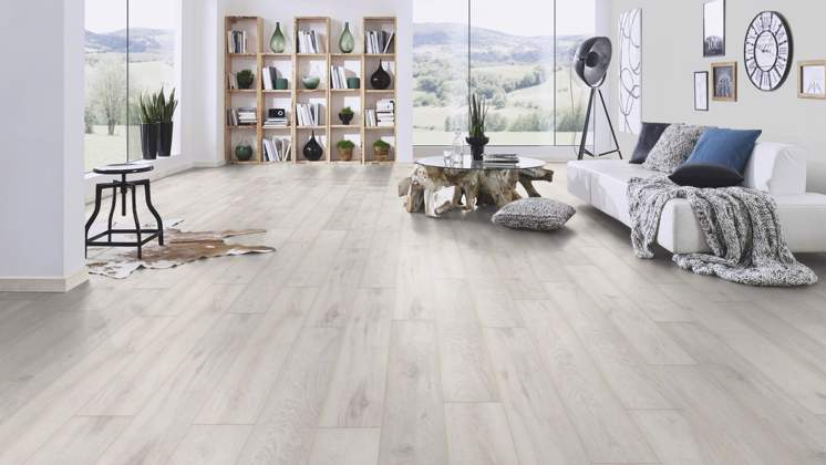 Iceberg White Oak 8mm Floor Depot, White Laminate Flooring Bedroom