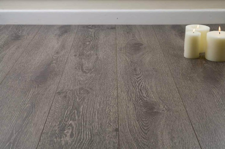 Midnight Dark Grey Oak 8mm Laminate Flooring