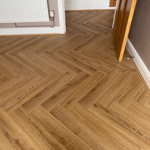 Honey Oak LVT Herringbone