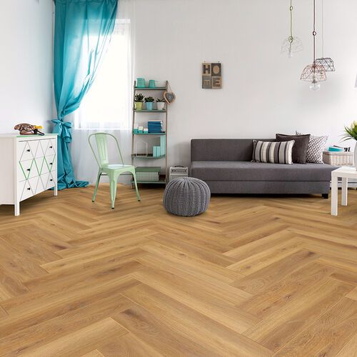 Golden Oak 8mm Herringbone
