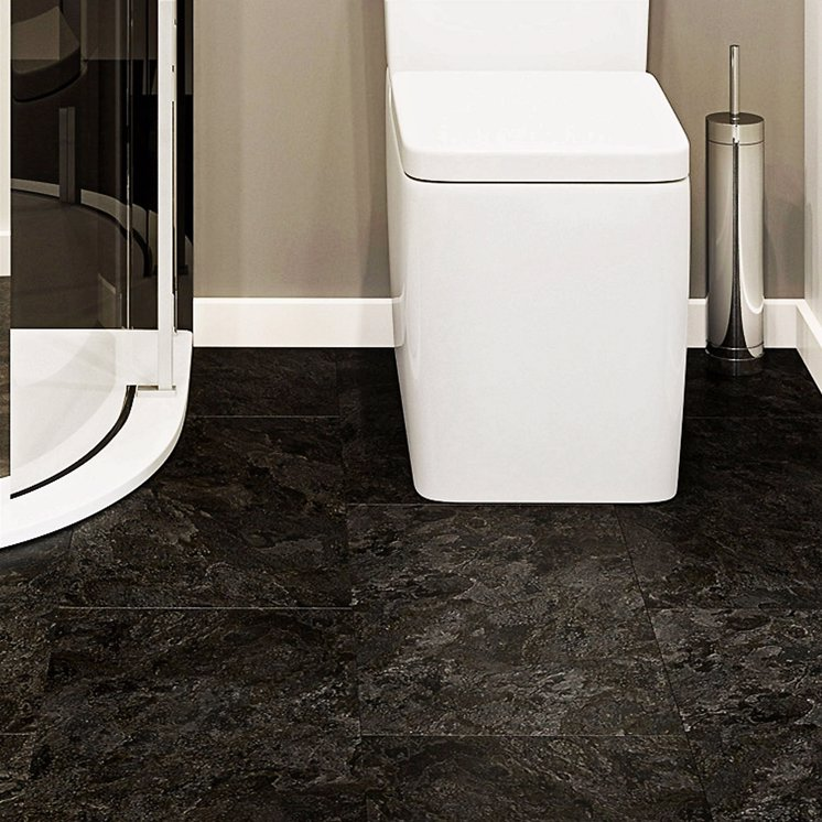 Black Slate Tile Effect LVT Click