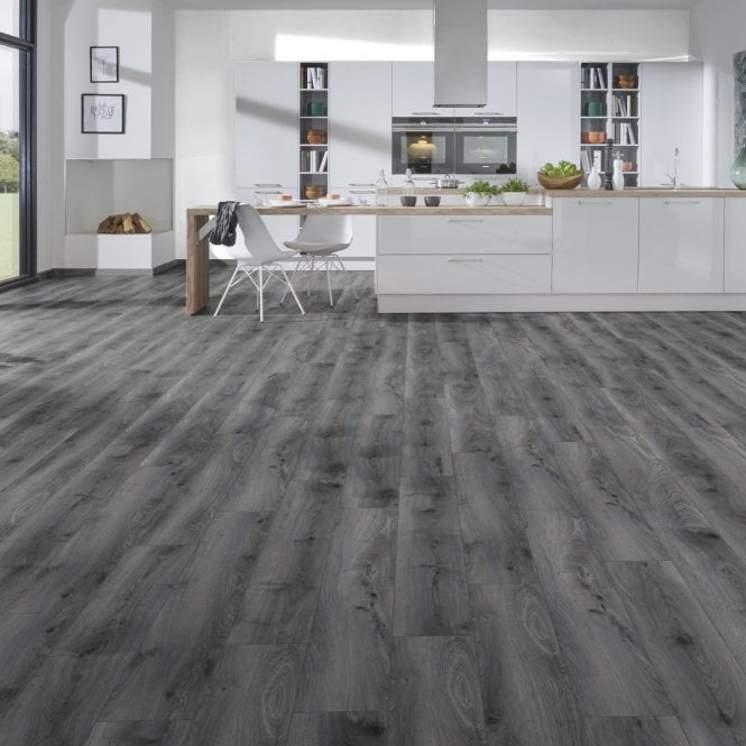 Tomahawk Dark Grey 12mm Laminate, Dark Grey Laminate Flooring