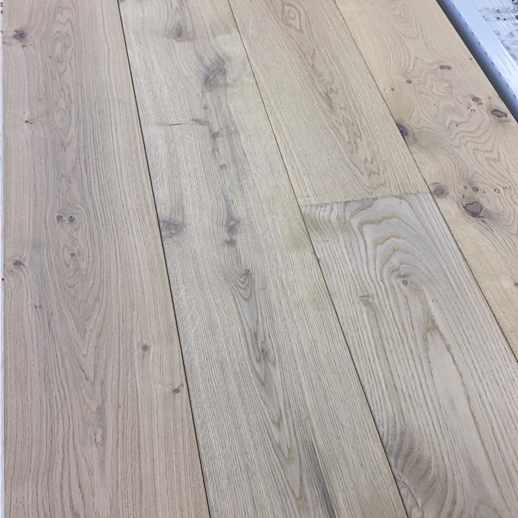 14mm x 190mm Matt Light White Brushed & Stained Wood