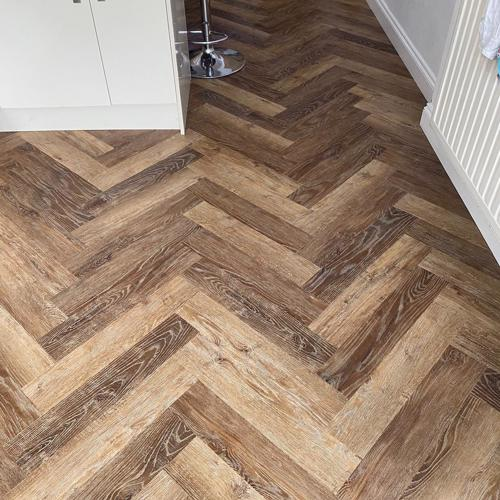 Norwegian Oak LVT Herringbone