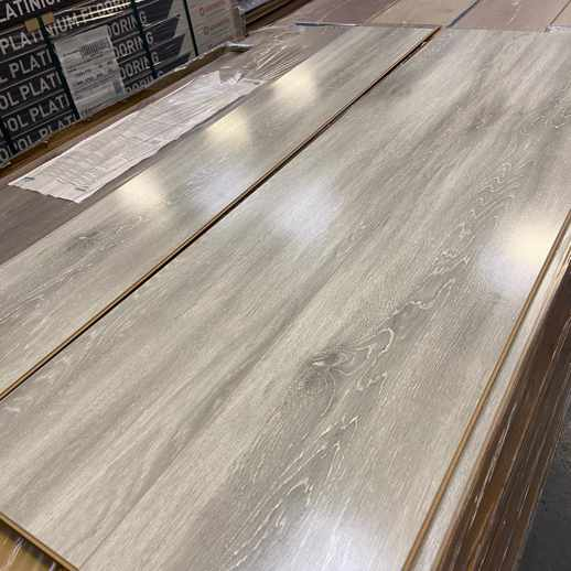 Light Grey Gloss Flooring 8mm