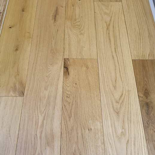 14mm x 125mm Natural Oak Brushed & Oiled Engineered Wood Flooring
