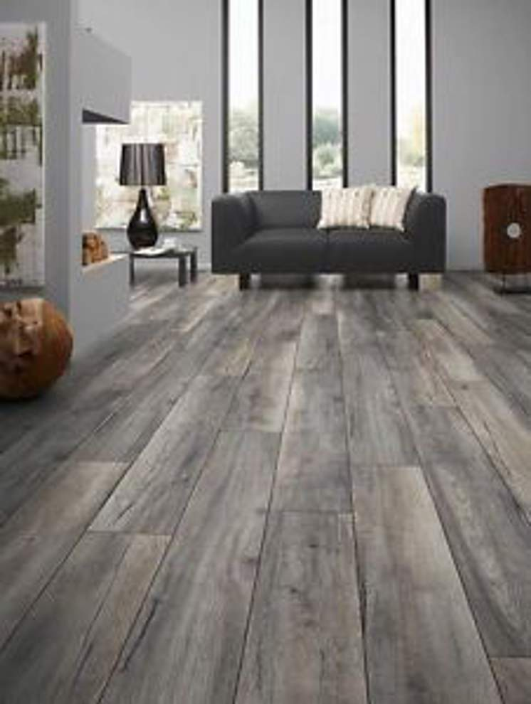 Grey Oak Effect 10mm Narrow Laminate, Grey Oak Laminate Flooring