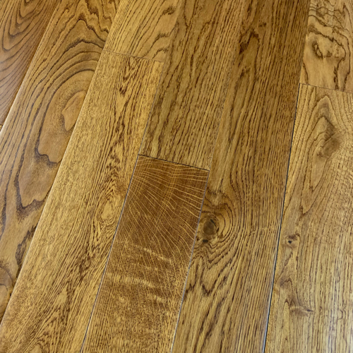 Golden Oak Handscraped 18mm x 150mm Engineered Oak