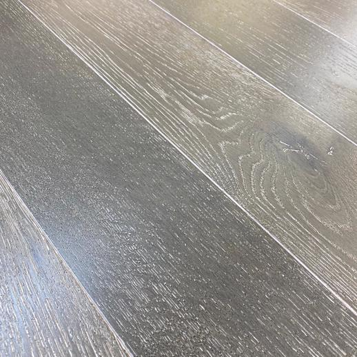 18mm Grey Solid Structured Oak Wood Flooring