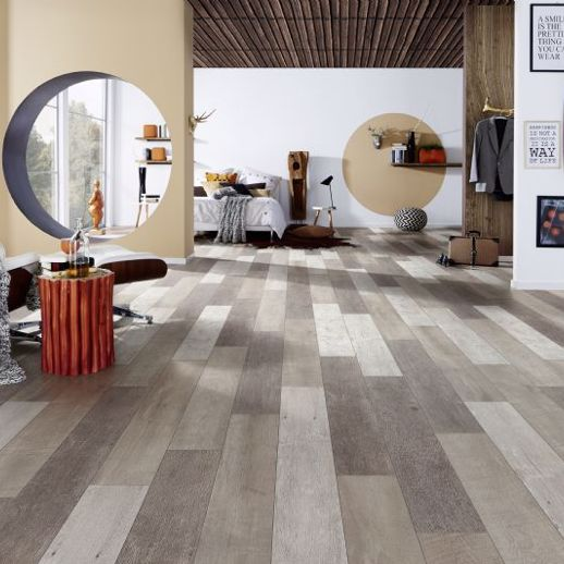 Multi -Shade Browns 8mm Laminate Flooring