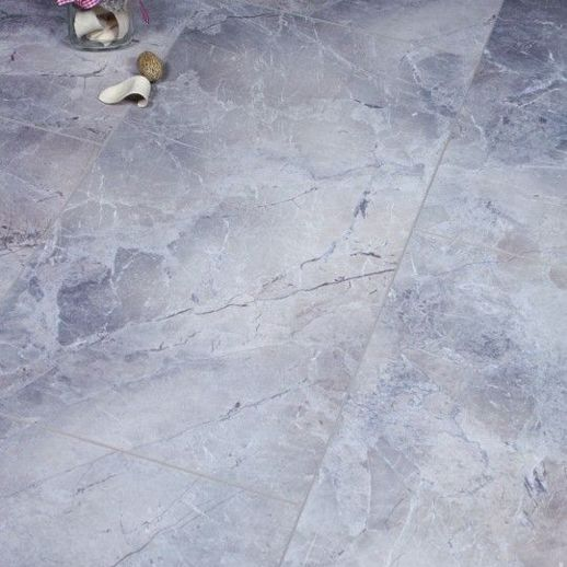 Grey Marble Tile Effect Laminate Flooring