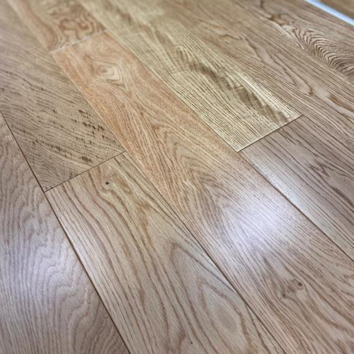 18mm x 125mm Lacquered Engineered Natural Oak