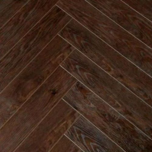 Dark Walnut Herringbone 12mm Laminate