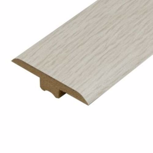 White Brushed Laminate Doorbar - T-Bar 0.9m