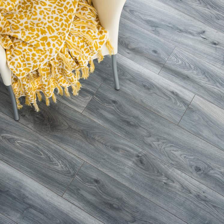 Dark Metal Grey 8mm Laminate Flooring, Dark Grey Laminate Flooring